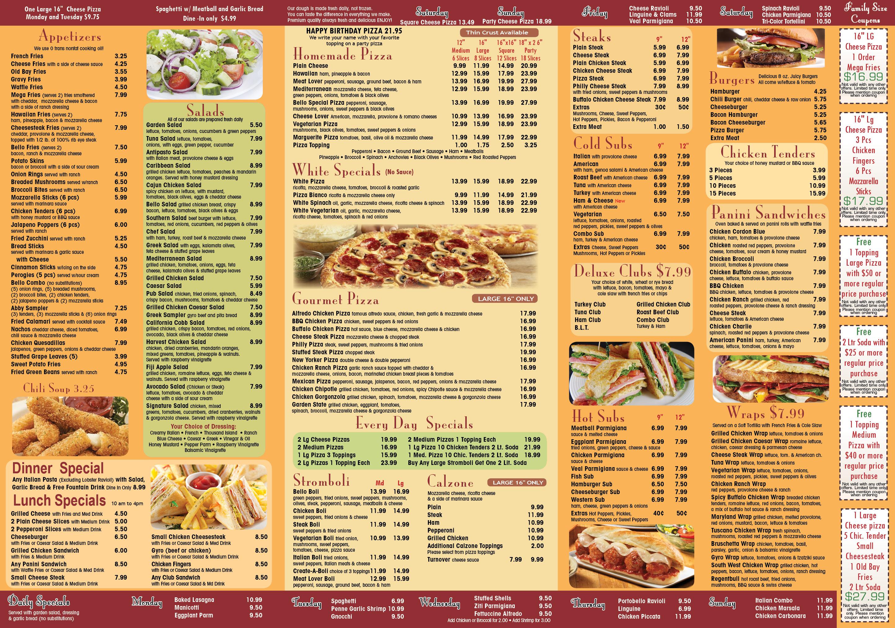 bellogino menu